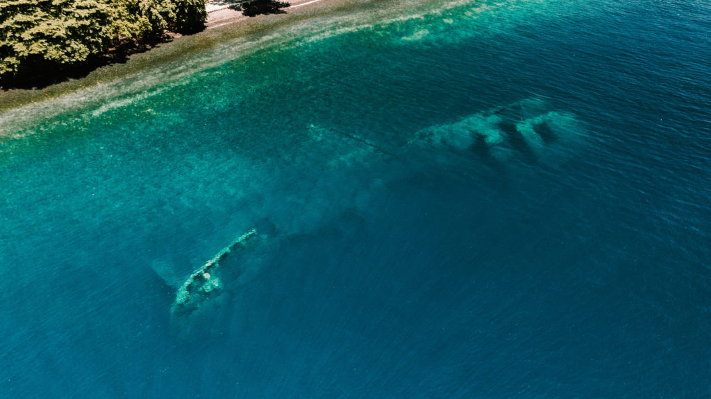 epave de l'uss liberty a Tulamben sur l'ile de Bali en Indonesie spot de plongee mondialement reconnu