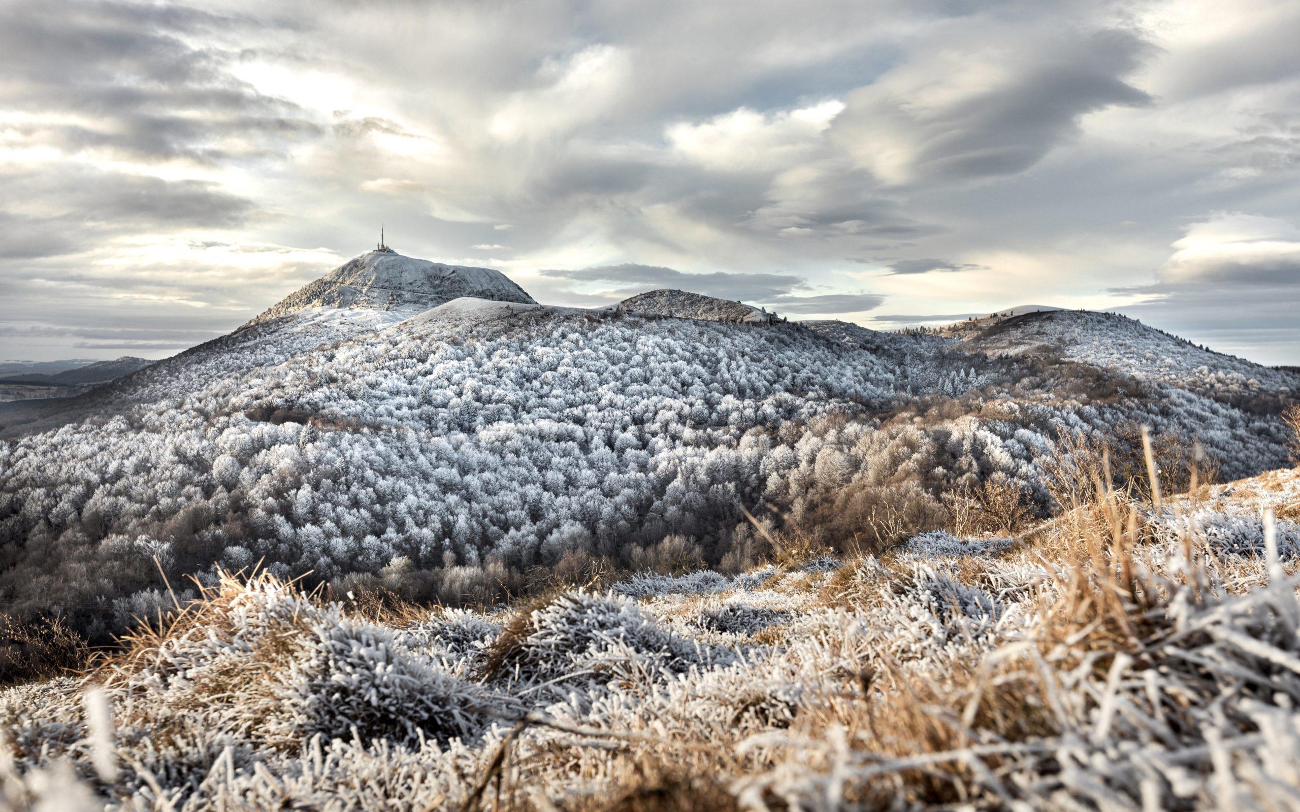 Un Hiver glacial sur la Chaîne des Puys